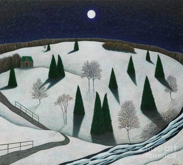 Wall Art - Painting - Berkshire Nightscape by Scott Kahn