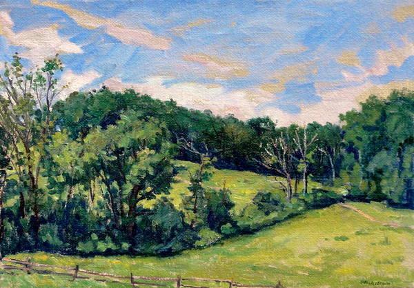 Porch Painting - Berkshires Hillside by Thor Wickstrom