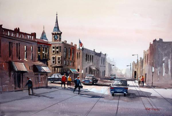 Street Scape Painting - Berlin - Main Street by Ryan Radke