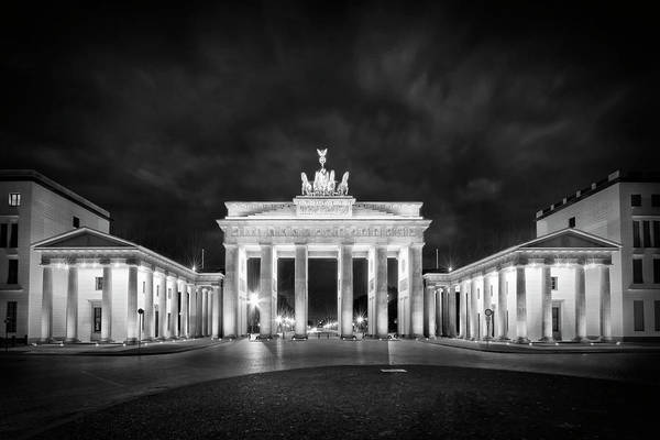 Wall Art - Photograph - Berlin Brandenburg Gate Monochrome by Melanie Viola