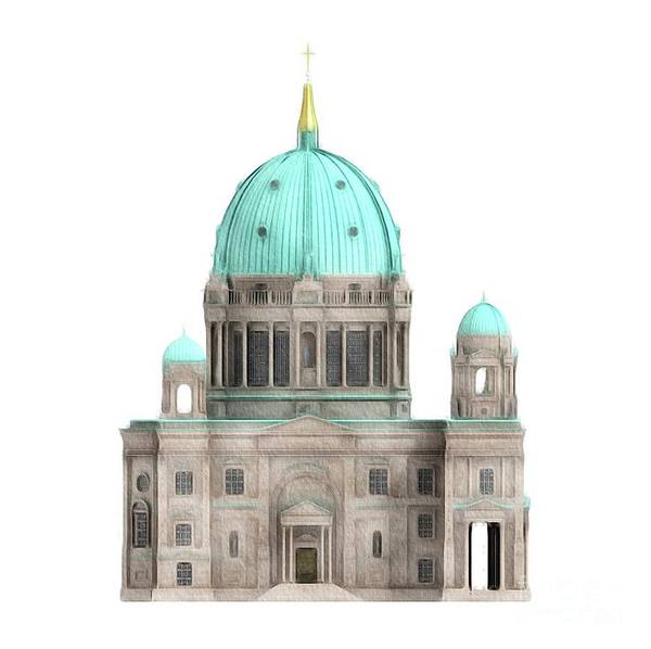 Dom Wall Art - Painting - Berlin Cathedral by John Springfield