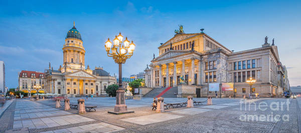 Berlin Cathedral Photograph - Berlin Gendarmenmarkt Square At Dusk by JR Photography