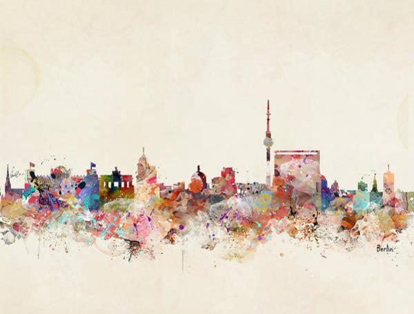 Wall Art - Painting - Berlin Germany Skyline by Bri Buckley