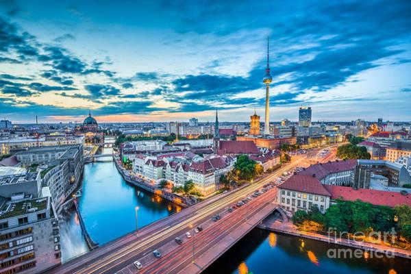 Fernsehturm Photograph - Berlin by JR Photography