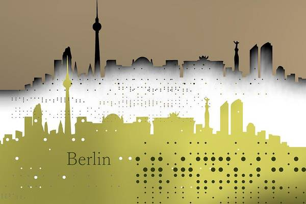 Digital Art - Berlin Skyline by Alberto RuiZ