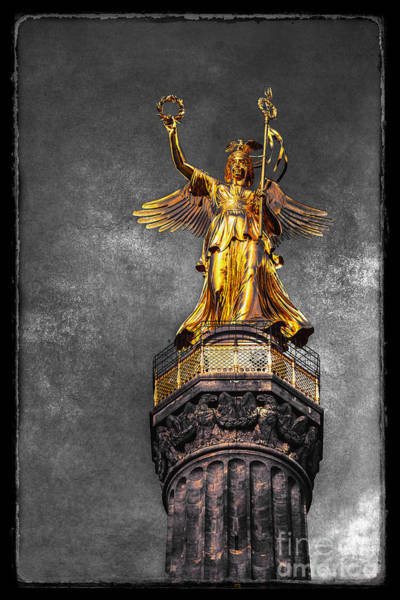 Photograph - Berlin - The Statue Of Victoria by ARTSHOT - Photographic Art