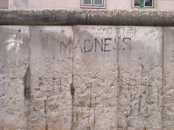 Photograph - Berlin Wall Madness by Annette Hadley