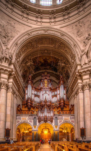 Photograph - Berliner Dom Pipe Organ by Ross Henton
