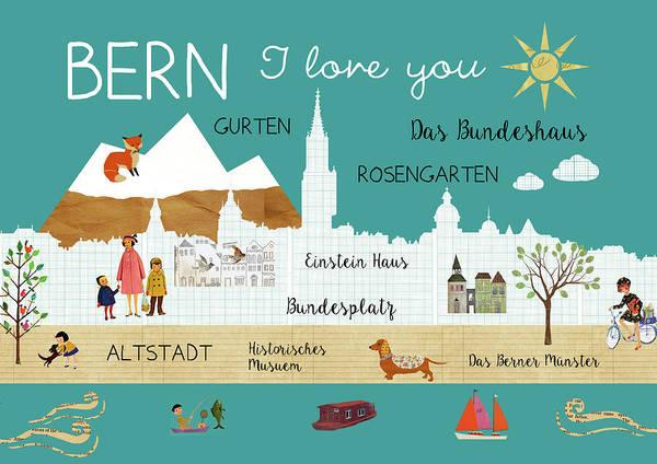 Bern I Love You Art Print