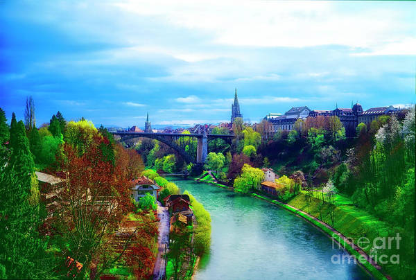 Photograph - Bern Switzerland City View Spring by Tom Jelen
