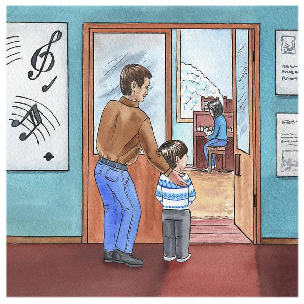 Painting - Bernard Goes To Music School by Irina Sztukowski