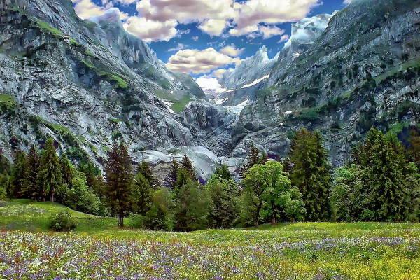 Photograph - Bernese Alps Landscape by Anthony Dezenzio