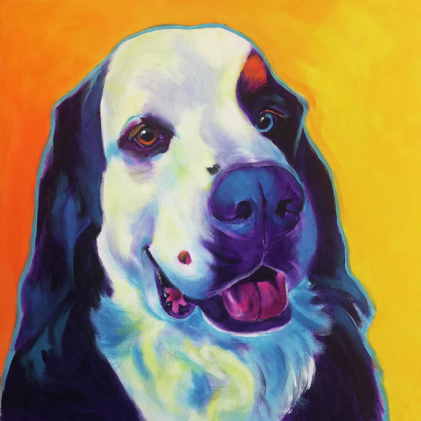 Wall Art - Painting - Bernese Mountain Dog - Zeke by Alicia VanNoy Call