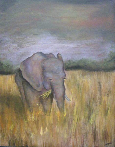 Husk Painting - Bernice's Elephant by Michelle Iglesias