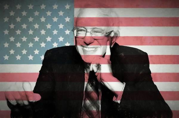 Democrat Mixed Media - Bernie Sanders by Dan Sproul