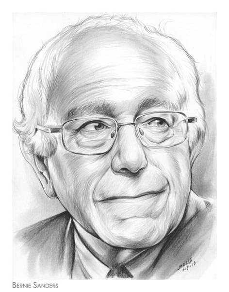 Political Wall Art - Drawing - Bernie Sanders by Greg Joens