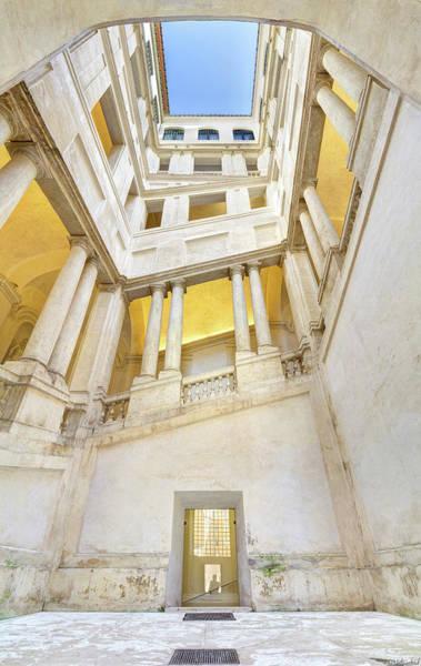 Photograph - Bernini Staircase Panorama by Weston Westmoreland