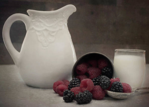 Photograph - Berries And Cream by Teresa Wilson