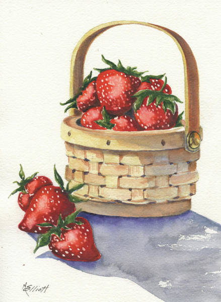 Strawberry Painting - Berry Nice by Marsha Elliott