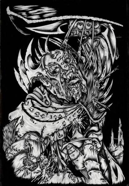 Tattoo Flash Painting - Berserker by N Emesis