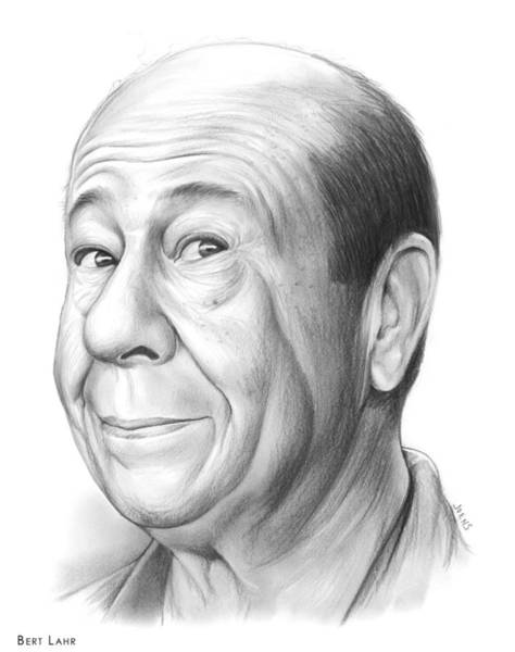 Wall Art - Drawing - Bert Lahr by Greg Joens