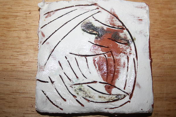 Ceramic Art - Bertha - Tile by Gloria Ssali