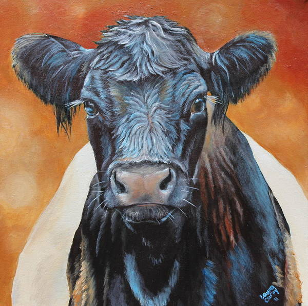 Galloway Wall Art - Painting - Bertha Beltie by Laura Carey