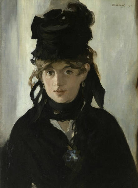 Painting - Berthe Morisot With A Bouquet Of Violets by Edouard Manet