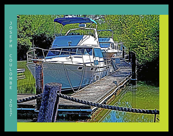 Digital Art - Berthed On A Delta Dock by Joseph Coulombe