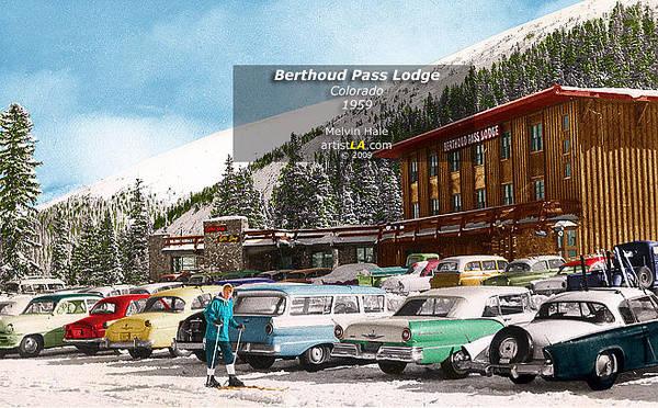 Wall Art - Painting - Berthoud Pass Lodge Colorado Circa 1959 by Melvin Hale