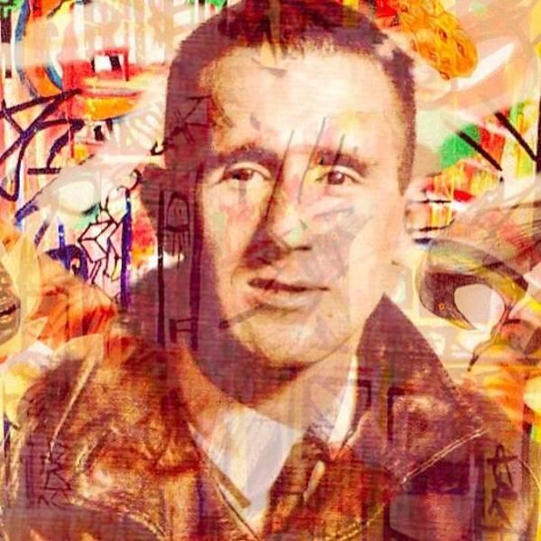 Streetart Mixed Media - Bertolt Brecht And Fluxus by Havard Furulund