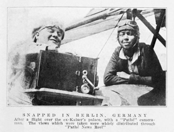 Wall Art - Photograph - Bessie Coleman, Us Aviation Pioneer by Schomburg Centernew York Public Library