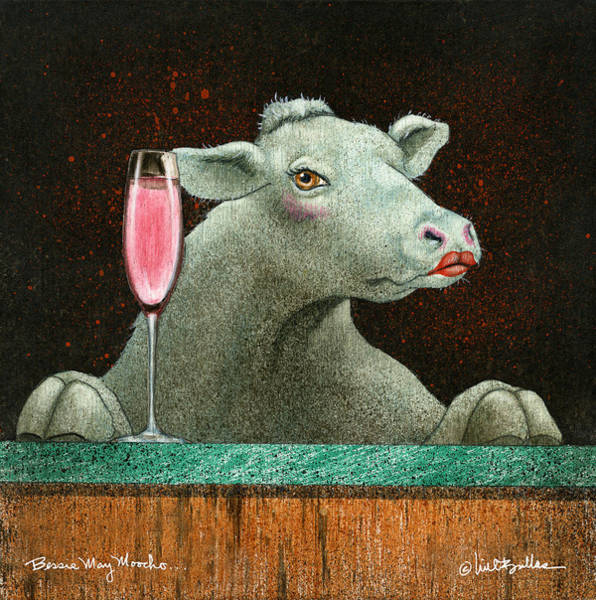 Champagne Painting - Bessie Mae Moocho... by Will Bullas