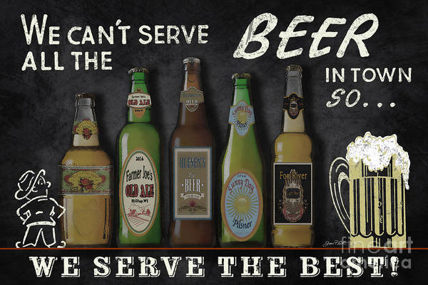 Wall Art - Painting - Best Beer Sign-jp3840 by Jean Plout