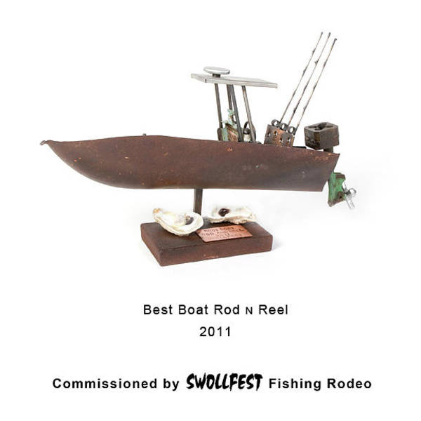 Wall Art - Sculpture - Best Boat Rod N Reel by Benjamin Bullins