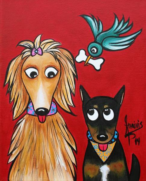Wall Art - Painting - Best Buddies by Annie Maxwell