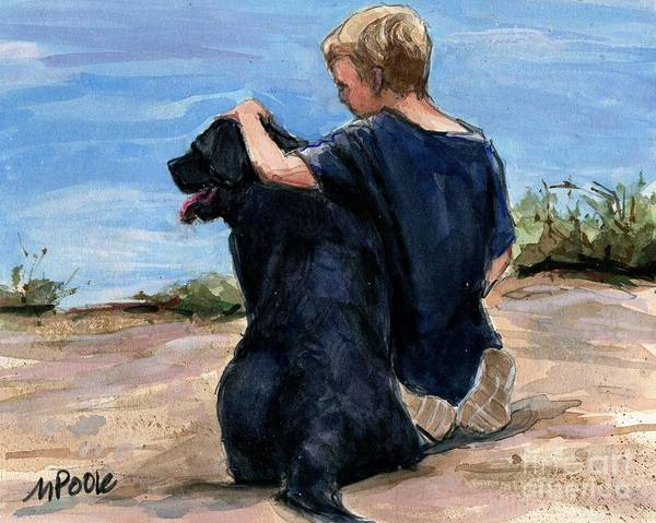 Service Dog Painting - Best Buds by Molly Poole