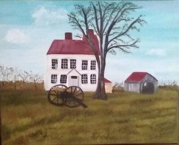 Monocacy Wall Art - Painting - Best Farm At Monocacy Battlefield by Rebecca Jackson