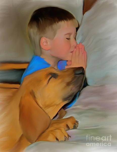 Blanton Wall Art - Digital Art - Best Friend Prayers by Susan Blanton