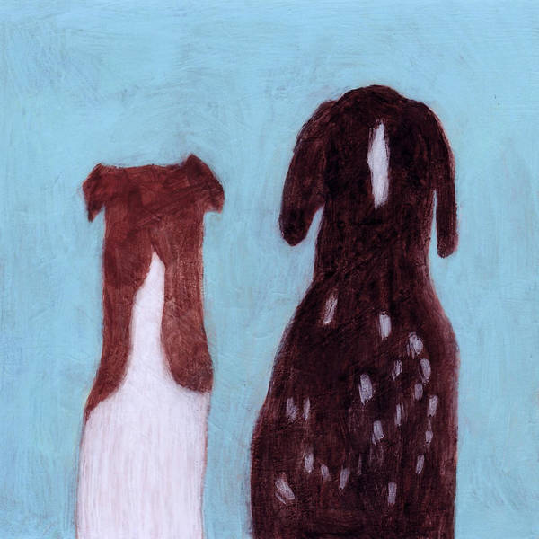 German Pointer Painting - Best Friends by Kazumi Whitemoon