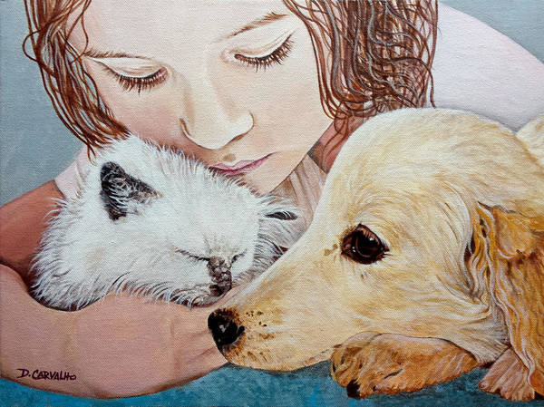 Painting - Best Friends by Daniel Carvalho
