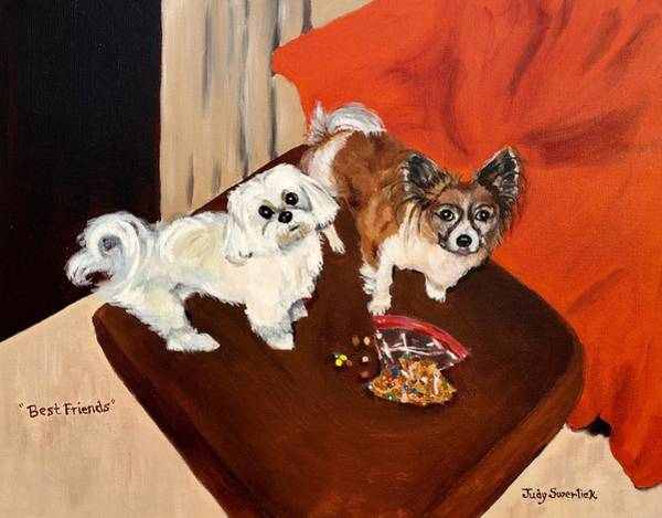 Wall Art - Painting - Best Friends by Judy Swerlick