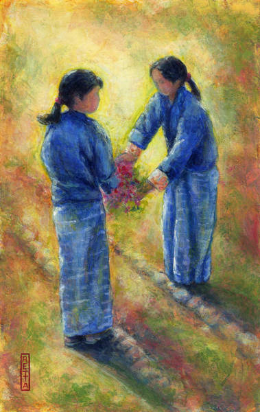 Painting - Best Friends by Retta Stephenson