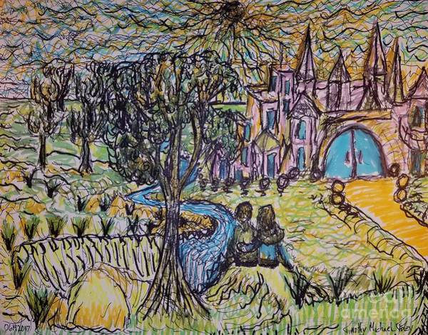 Impressionistic Landscape Drawing - Best Friends  by Timothy Foley