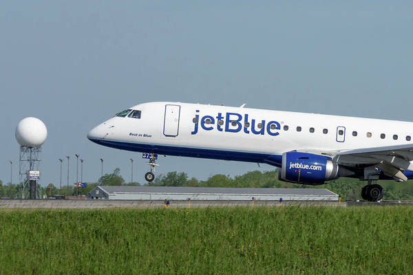 Jetblue Wall Art - Photograph - Best In Blue by Guy Whiteley