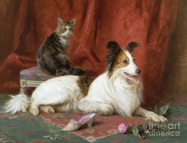 Cats And Dogs Painting - Best Of Friends by Eugene Lambert