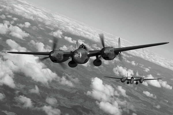 Usaaf Wall Art - Photograph - Best Of The Breed - Bw by Mark Donoghue