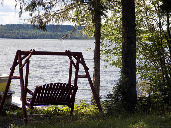 Madawaska Lake Photograph - Best Seat In The House by William Tasker