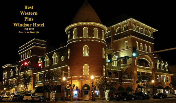 Photograph - Best Western Plus Windsor Hotel - Christmas by Jerry Battle