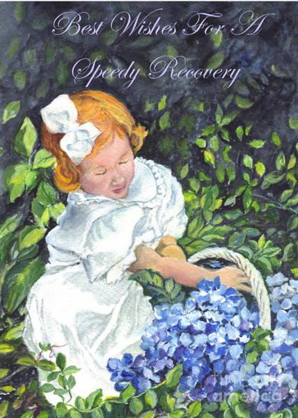 Wishing Well Painting - Best Wishes For A Speedy Recovery  by Carol Wisniewski